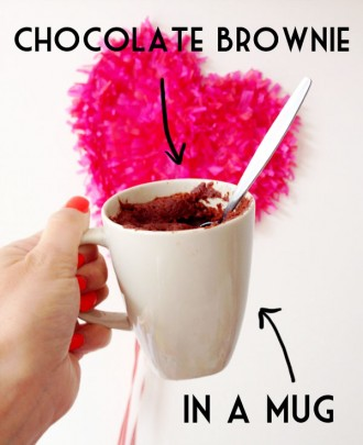 2 min chocolate brownie in a mug