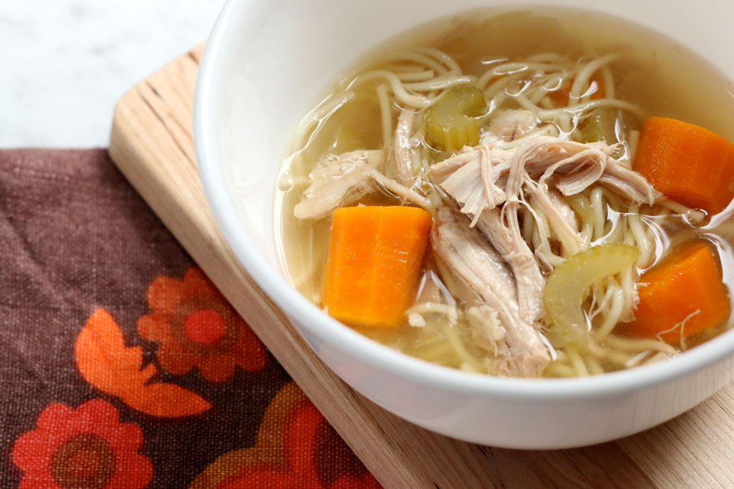 No Fuss Slow Cooker Chicken Noodle Soup