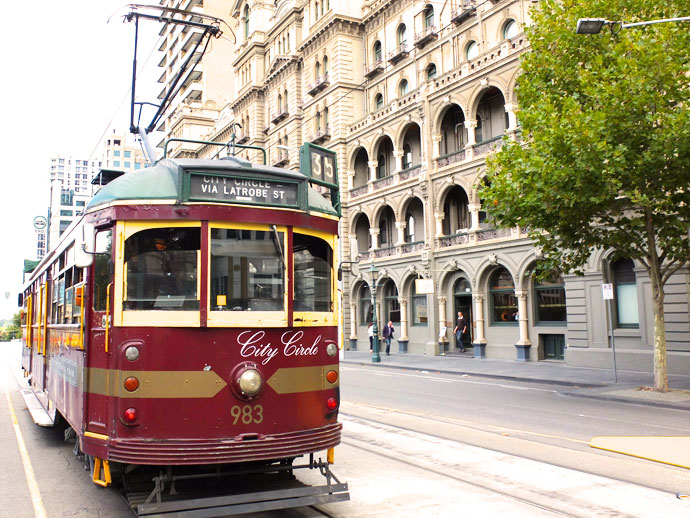 Melbourne trams are free to ride - City Circle