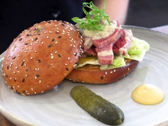 Glovers Station Elsternwick Corned Beef Brisket Roll