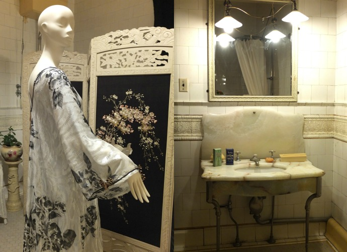 Miss Fisher's Murder Mysteries Costume Exhibition National Trust bathroom