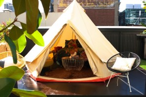 Glamping on Melbourne Central rooftop at St Jerome's Hotel