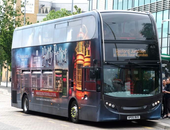 harry potter studio shuttle bus
