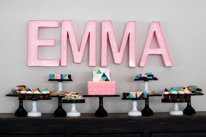 Geometric baby shower