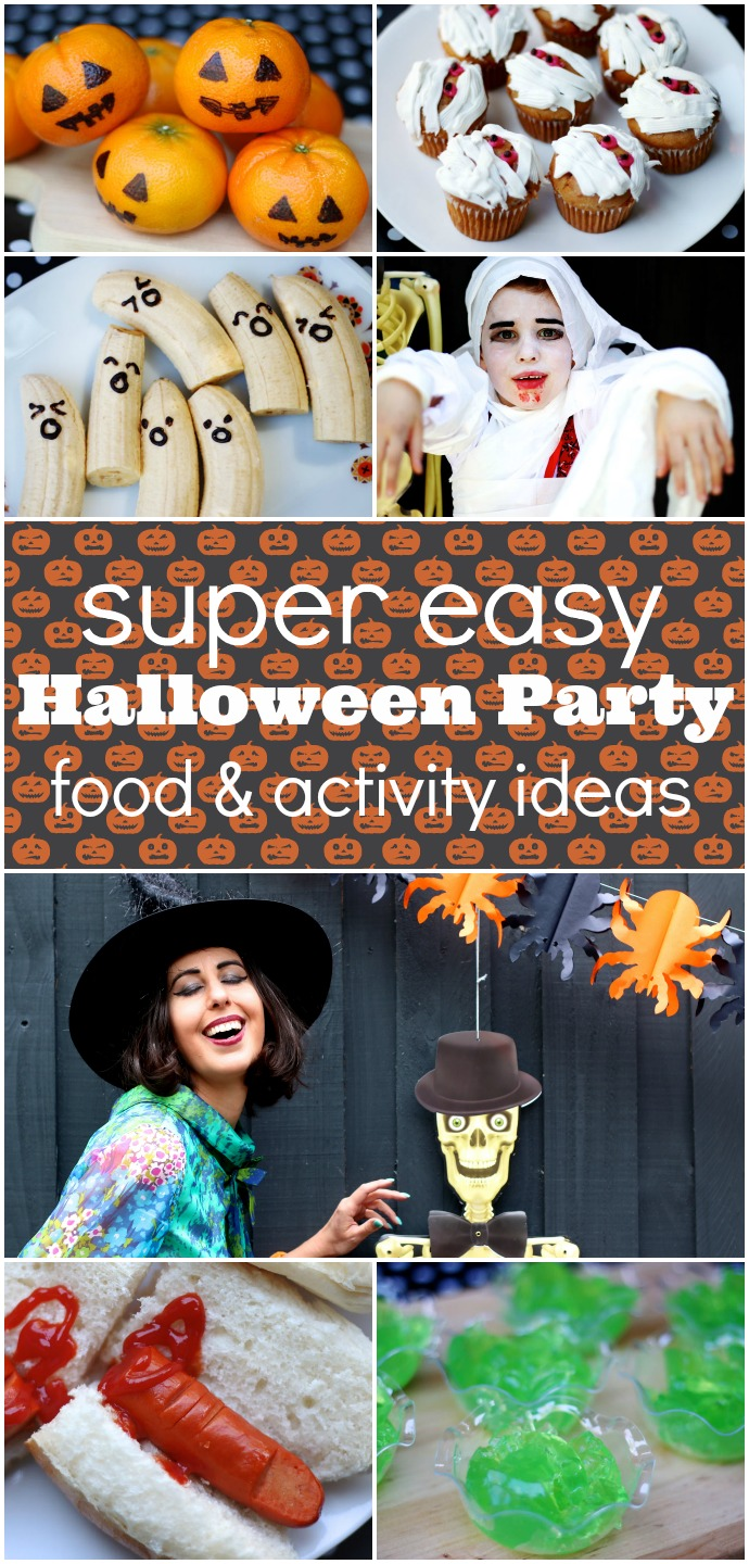 Super Easy Halloween party food and activity ideas mypoppet.com.au/living