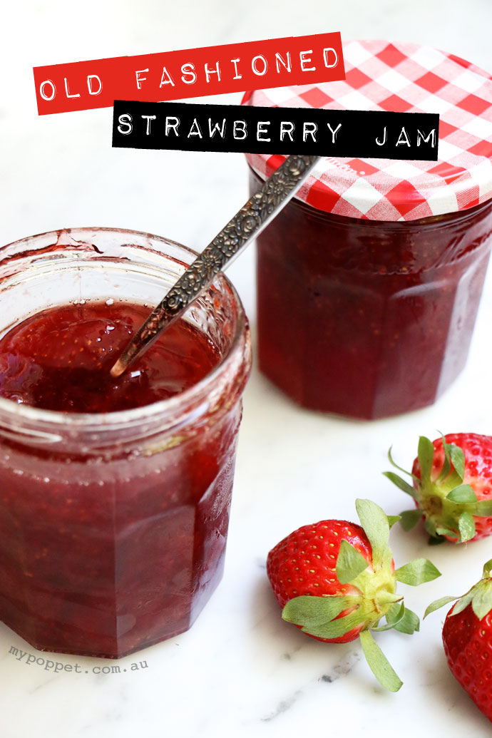 Old Fashioned Strawberry Jam recipe - Only 3 ingredients - No Pectin