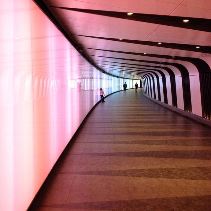 London Underground tunnel rainbow mypoppet.com.au