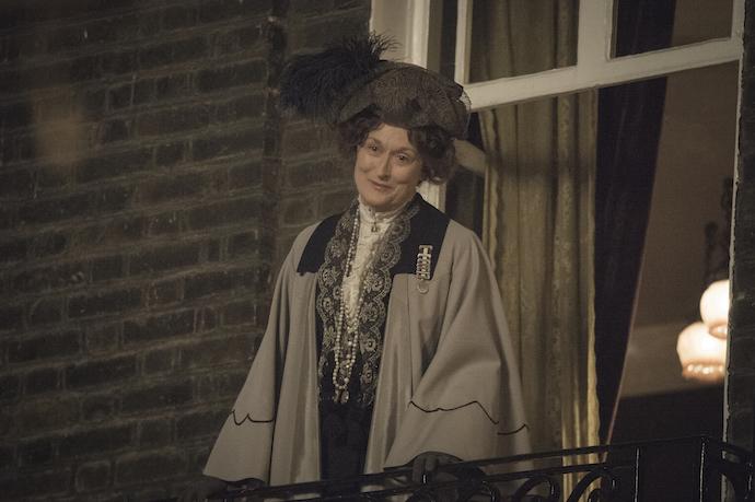 Meryl Streep as Mrs Pankhurst