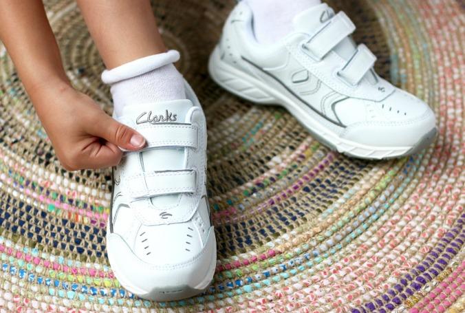Velcro fastening clarks school shoes