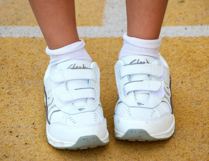 clarks ventura white sneakers sport shoes back to school