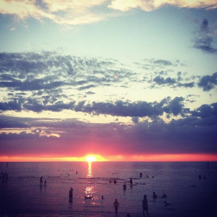 sunset beach image credit Bron Leeks