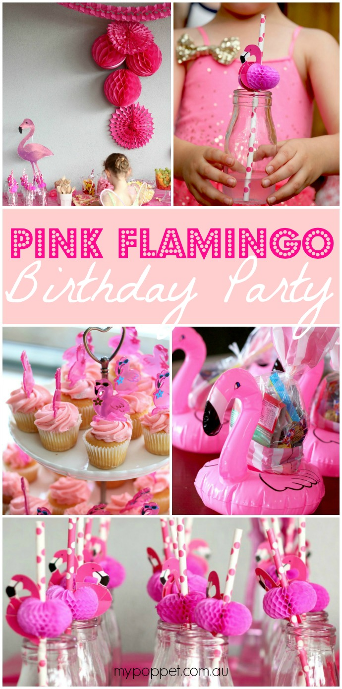 Pink Flamingo Birthday Party Ideas mypoppet.com.au