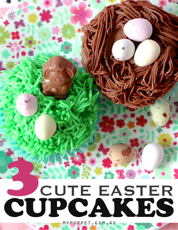 3 cute easter cupcakes to make my poppet living 3 cute easter cup cake ideas mypoppet negle Gallery