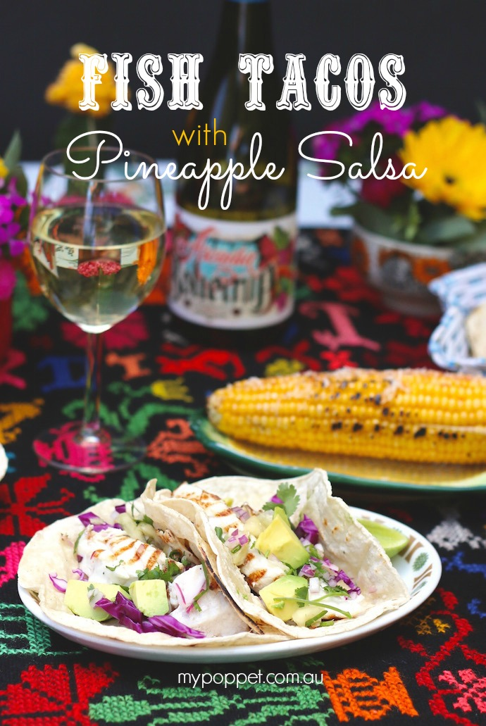 Fish tacos with pinapple salsa