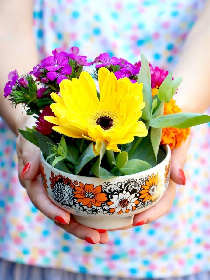 lovely DIY floral arrangement