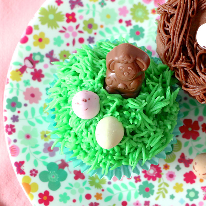 Meadow lamb cup cake