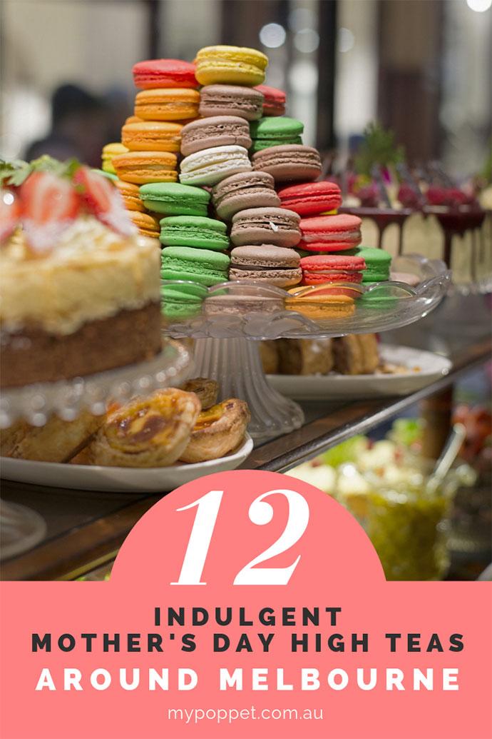 Cake display at Hopeton tea rooms melbourne