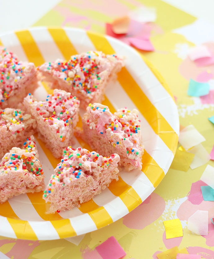 Allergy friendly fairy bread rice krispy treats mypoppet.com.au