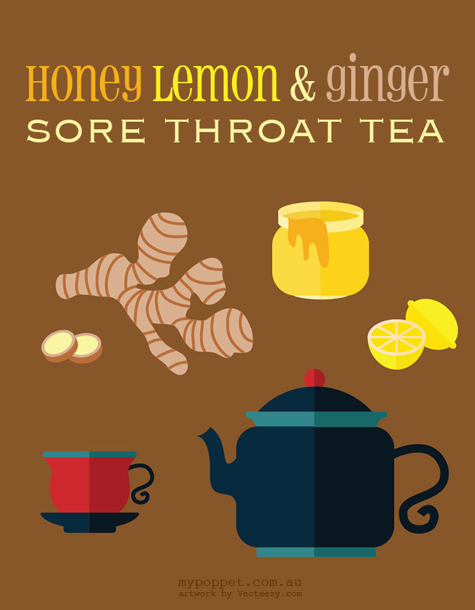 honey, lemon and ginger sore throat tea recipe