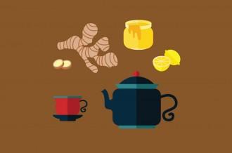 lemon ginger and honey sore throat tea recipe