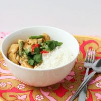 Malaysian Coconut Chicken Curry Rice