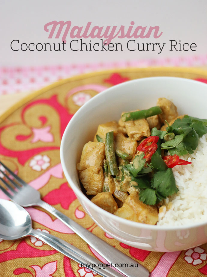Pohs recipe box challenge malaysian coconut chicken curry rice malaysian coconut chicken curry rice recipe mypoppet forumfinder Gallery