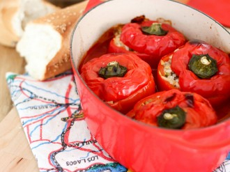 rice stuffed capsicum peppers