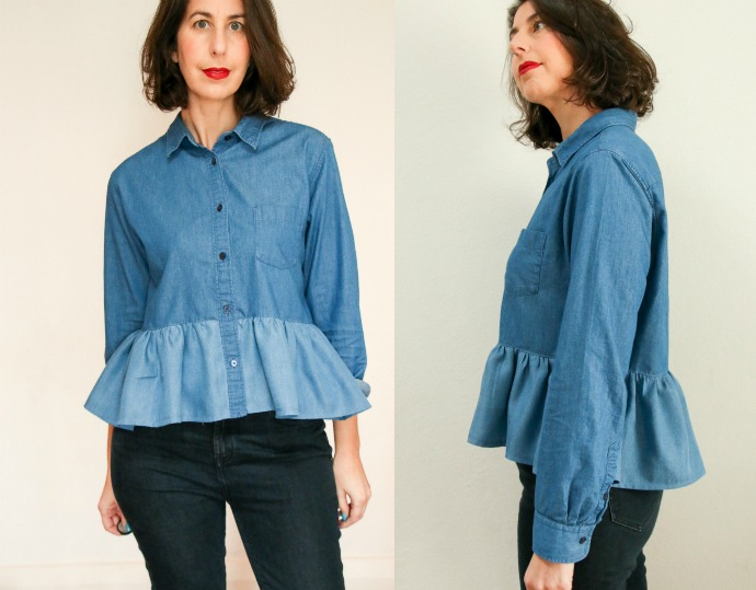 denim shirt makeover