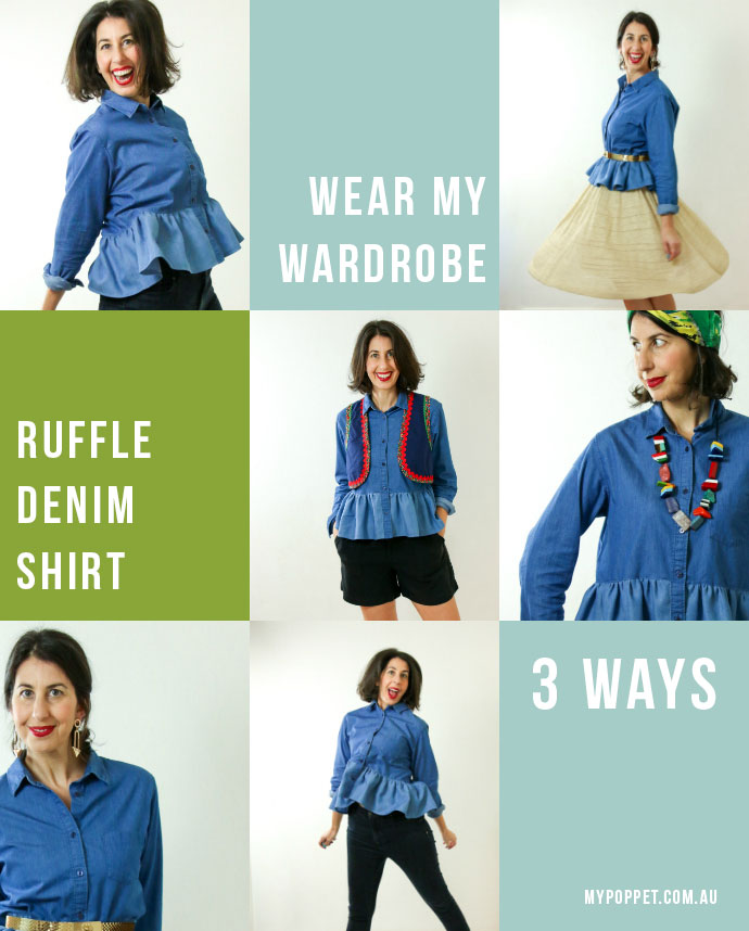 How to wear a ruffle bottom shirt - 3 styling ideas