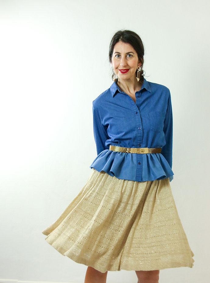 How to wear a ruffle bottom shirt - 3 styling ideas