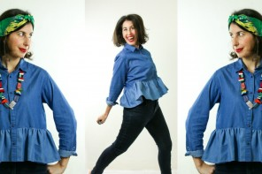 Wear My Wardrobe – Ruffle Denim Shirt 3 Ways