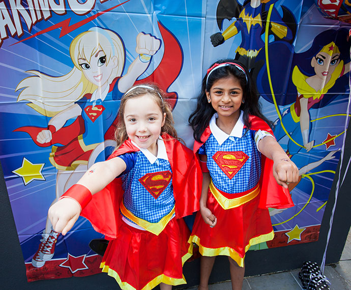 DC superhero girls party mypoppet.com.au