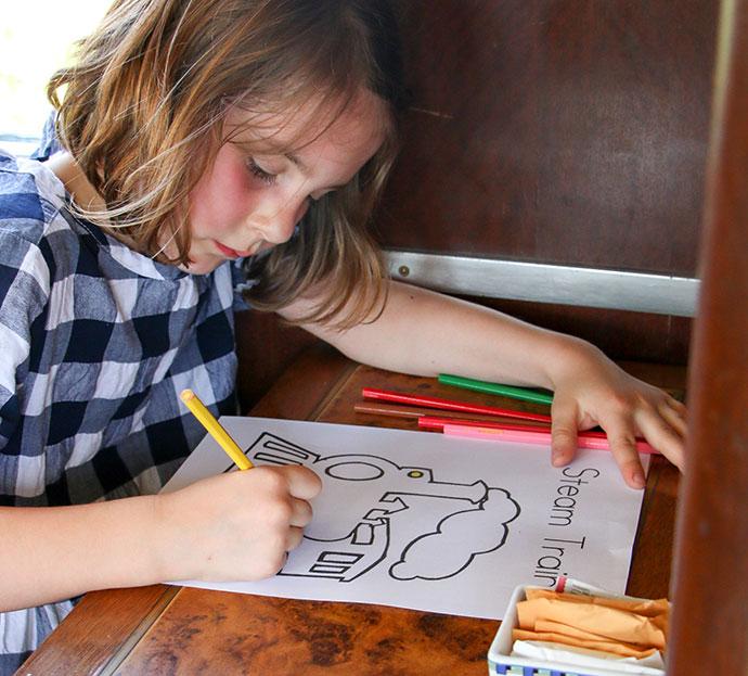 Kids activities on the north borneo railway