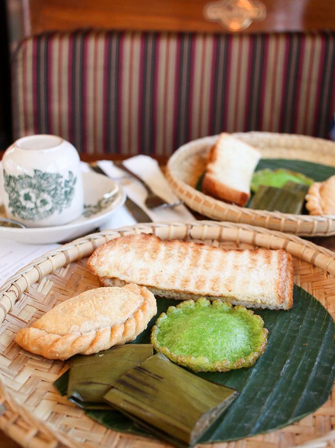 Local Malay breakfast on the North Borneo Railway
