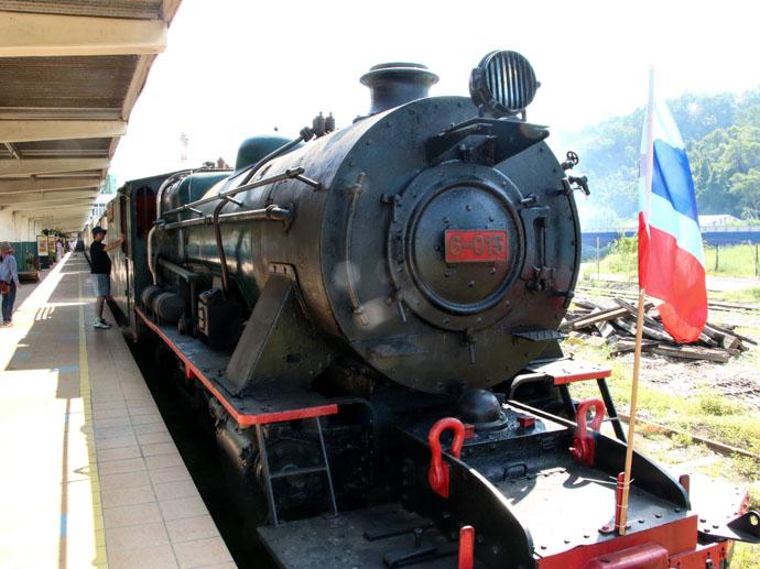 vintage steam train journey Sabah Borneo