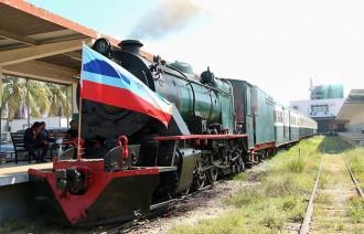 Steam train - North borneo railway Sabah Malaysia