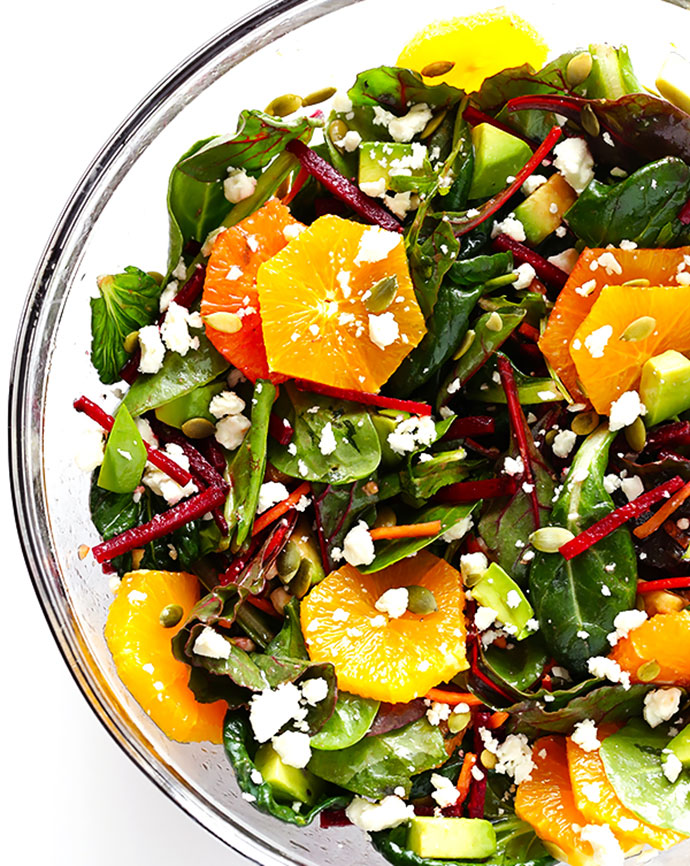 Green Salad With Oranges Beets Avocado
