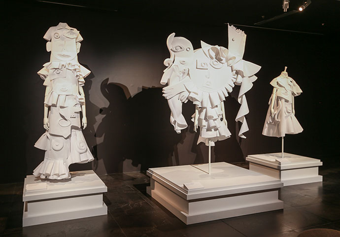 Performance of Sculptures - Installation view of Viktor&Rolf: Fashion Artists at the National Gallery of Victoria. Photo: Wayne Taylor