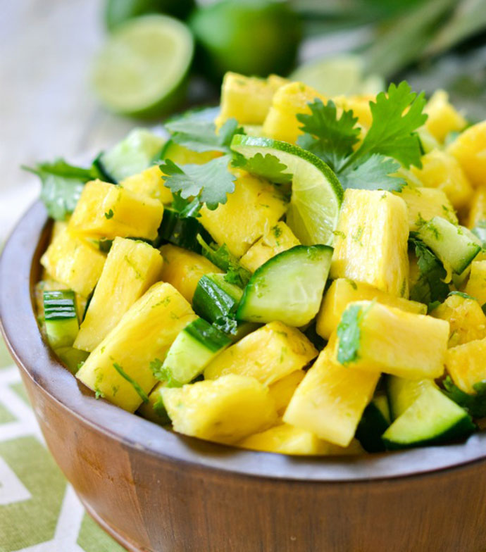 Pineapple and cucumber summer salad recipe