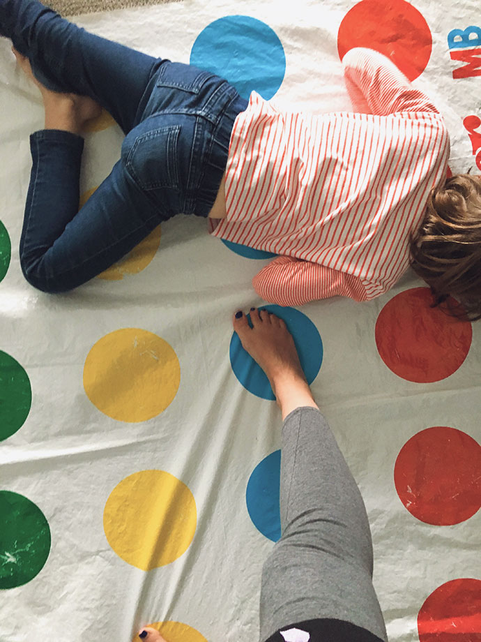 playing twister