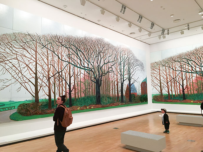 David Hockney NGV artist exhibition review