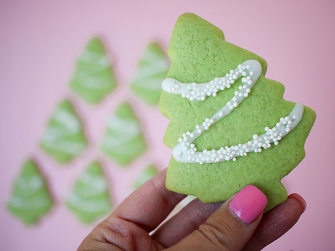 Easy Christmas Tree Cookie Recipe mypoppet.com.au
