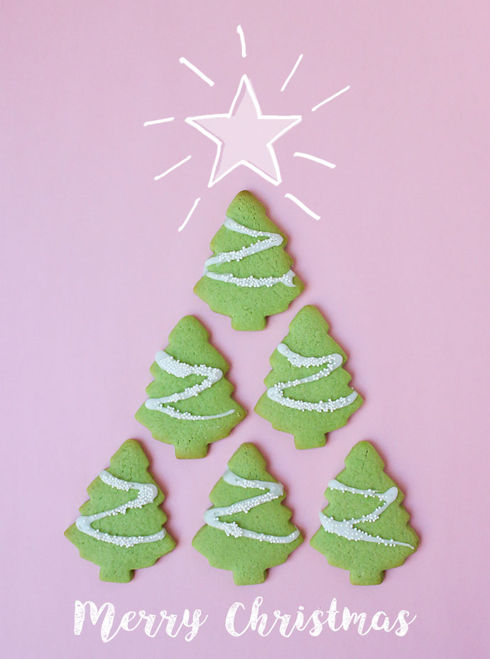 Happy Baking - festive Christmas cookies - Christmas Tree Cookies
