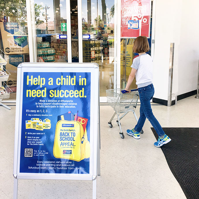 Back to school supplies shopping - Smith family Back to school appeal