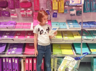 Back to school - shopping for school supplies at officeworks