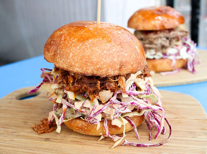 Pulled pork roll - The Swing Bridge Cafe and Boathouse Lorne