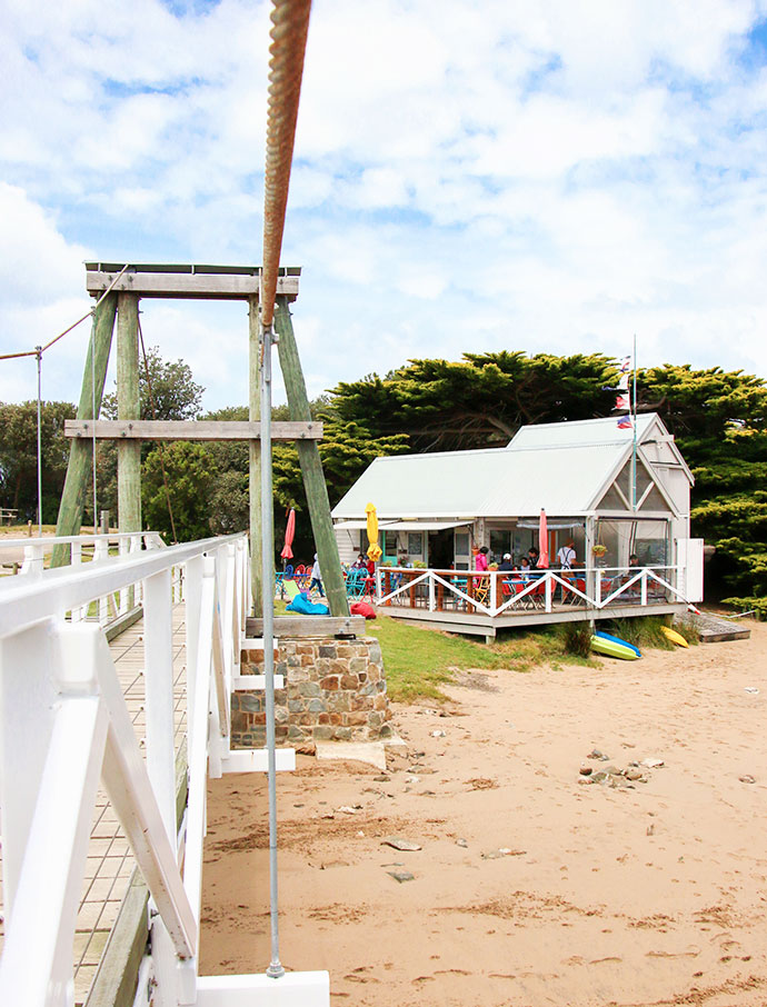 The Swing Bridge Cafe and Boathouse Lorne