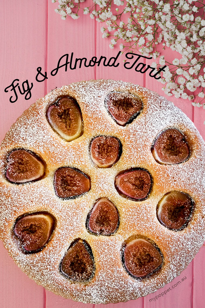 Fig & Almond Tart Recipe - mypoppet.com.au