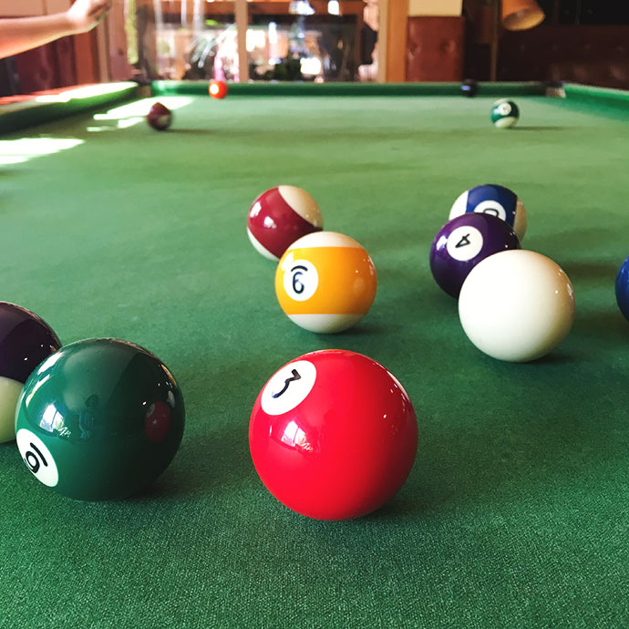 pool table - green
