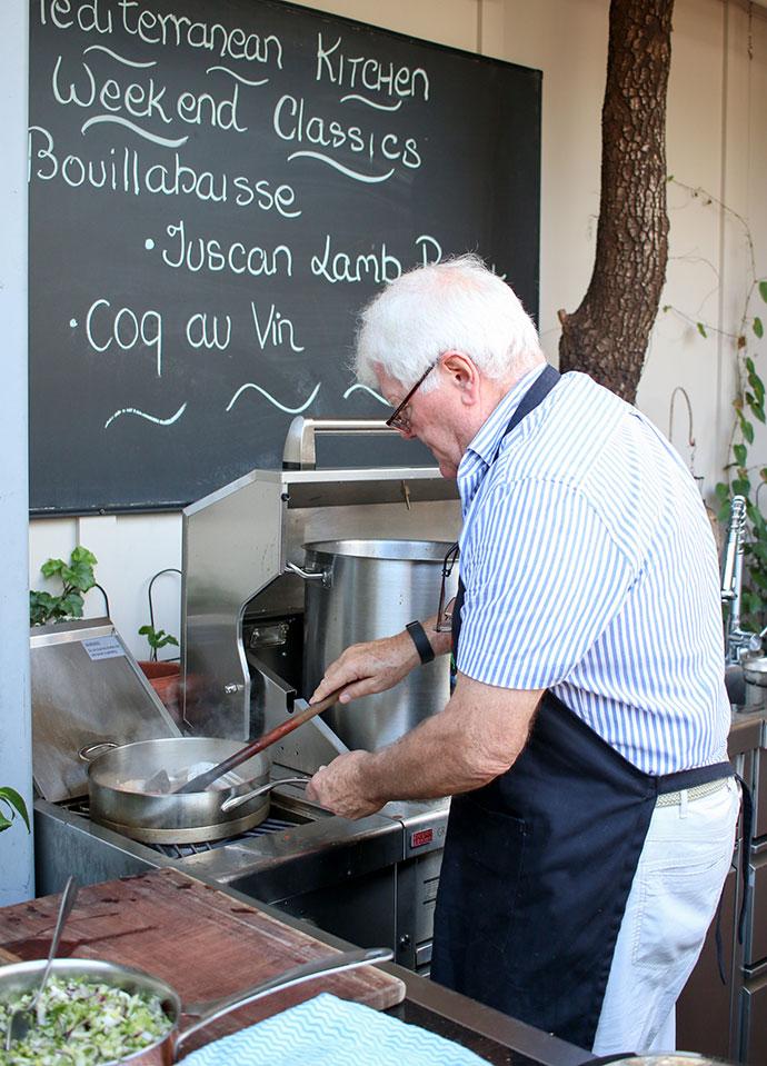 Alan Giles - cooking.